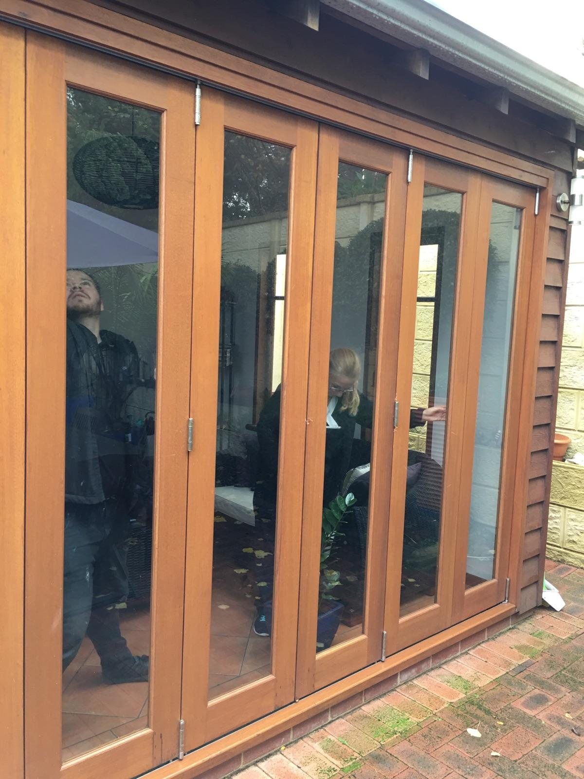 Bifold timber doors